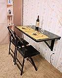 SoBuy® Tavolo pieghevole, Scrivania,Tavolo da bar,Tavolo da muro, SENZA SEDIA, FWT06-SCH,IT