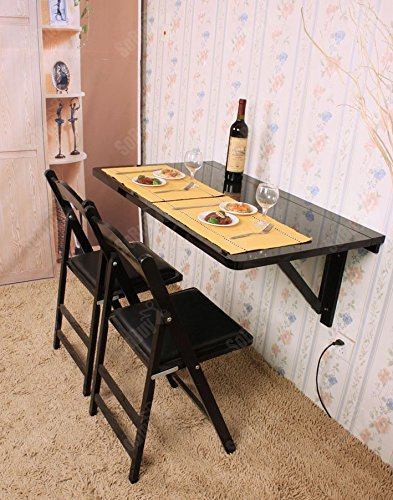 SoBuy Mesa Plegable Escritorio Mesa de Bar, Mesa de Pared, sin ...