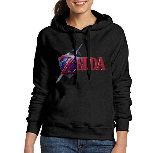 Zelda Costume Ocarina Of Time (UFBDJF20 The Legend Of Zelda Ocarina Of Time Fleece Sweatshirt For Women M Black)
