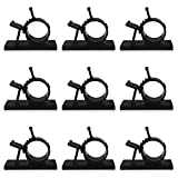 Amariver 60 Pack Cable Clips Wire Clips, 3M Self-Adhesive Adjustable Nylon Wire Clamps Cable Management Tie Holder for Car, Home and Office, 50 Small + 10 Large, Black