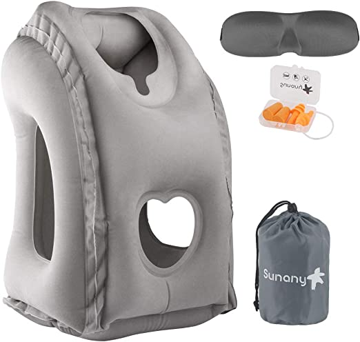 Sencezo Inflatable Travel Pillow - Best inflatable travel pillow