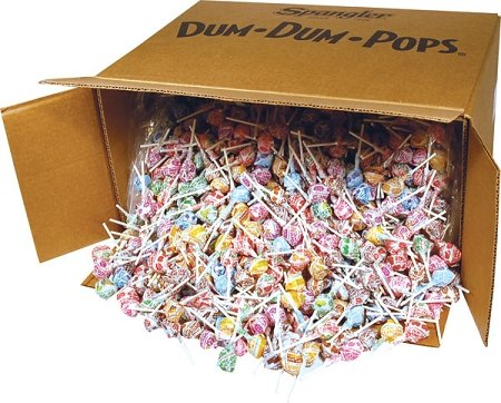 Dum Dum Pops Assorted Flavor Lollipops in Bulk 30 LB by Dum Dum