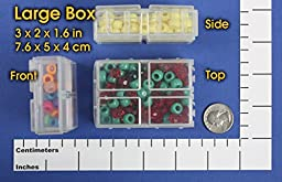 Large Connect-A-Box 6 pcs from Cottage Mills. Small item storage system that connects and stacks. Perfect for little things like beads, findings and parts. 2 packages of 3.