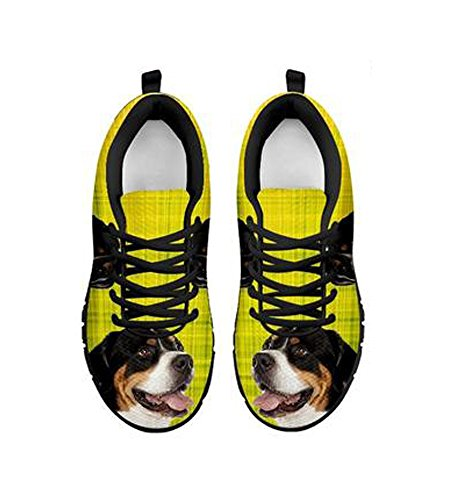 Swiss Dog Cute Sneakers Mountain Casual Greater Print Women's Black Shoetup qHSIwEI