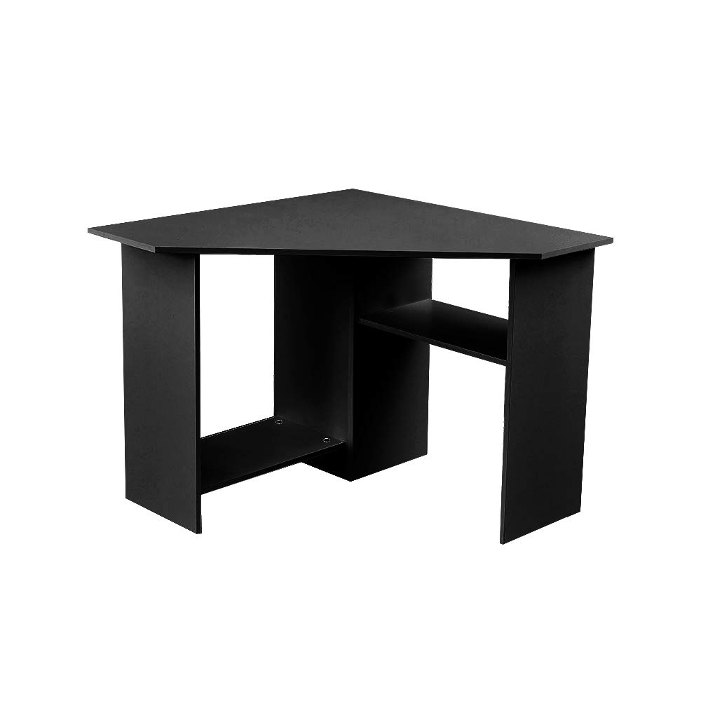 Blue Horizon Corner Computer Desk Black Small Wooden Computer Workstation Desk Home Office Desk Buy Online In Dominica At Dominica Desertcart Com Productid 125885537