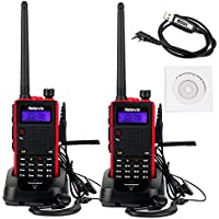 Retevis RT5 2 Way Radio 5W Dual Band VHF/ UHF 136-174/400-520 MHz 128 CH VOX FM Ham Radio Transceiver (2 Pack) and Programming Cable