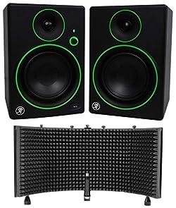 "Pair Mackie CR5BT 5"" Studio Monitors/Speakers w/Bluetooth + Vocal Shield"