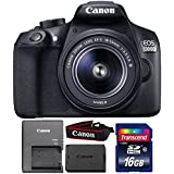 Canon EOS 1300D/T6 18MP Digital SLR candmerand with 18-55mm Lens and 16GB Memory Card