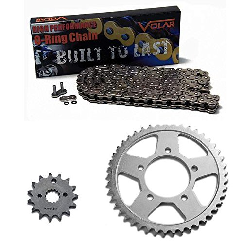 1997-2004 Suzuki Marauder 800 VZ800 O-Ring Chain and Sprocket Kit - Nickel (530 Nickel Plated O-ring Chain)