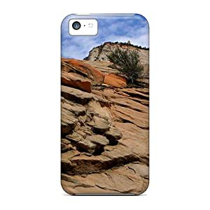 Premium Rock Wall Back Covers Snap On Cases For Iphone 5c