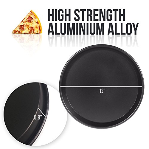 EDOBLUE Nonstick Pizza Pan Carbon Steel Pizza Tray Pie Pans (13inch) by EDOBLUE (Image #3)