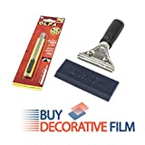 BDF 2KIT Professional Window Film Application Tool Kit, Blue Max Squeegee, Unger Handle and OLFA Knife