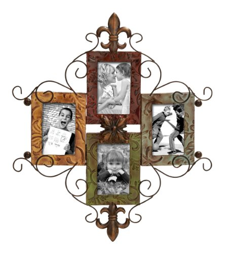 Fleur De Lis Pictures (Deco 79 53831 Metal Photo Frame)
