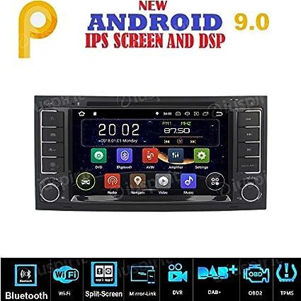 Radio para coche con Android 7.1, GPS, DVD, USB, SD, Wifi, 2 dines, navegador, para VW Touareg, T5 Multivan Transporter