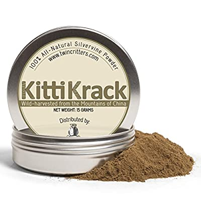 CatNip for Cats Twin Critters KittiKrack: Organic Silver Vine Catnip for Cats & Kittens 100%, All-Natural Silver [tag]