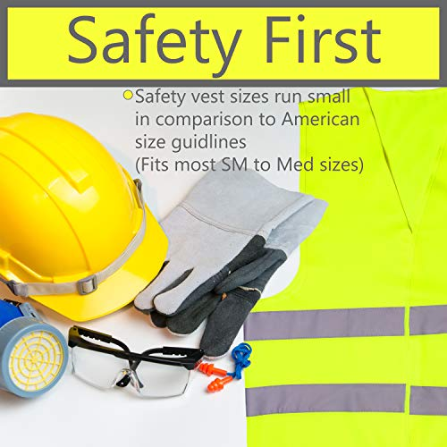 Pack of 20 Bright Construction Vests Yellow Safety Reflector Vests bulk, with Visibility Strip, Perfect for Warehouses, Traffic and Parking Patrol by Upper Midland Products by Upper Midland Products (Image #1)
