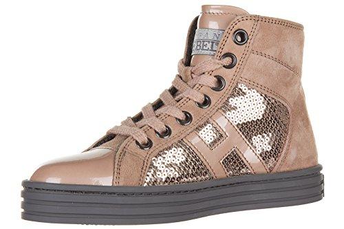 Hogan Rebel BabyschuheSneakers Kinder Baby Schuhe Mädchen Wildleder High Turnsc