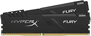 HyperX Fury 16GB 2666MHz DDR4 CL16 DIMM (Kit of 2) 1Rx8 Black XMP Desktop Memory HX426C16FB3K2/16