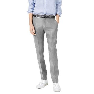 cade898c0ff Club Monaco Men s Grant Fit Linen Blend Trousers Pants Light Grey at ...