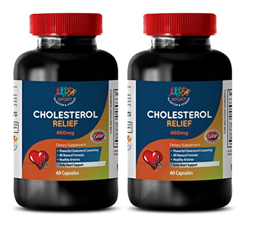 Antioxidant Blend - Cholesterol Relief Formula - Cholesterol Detox - 2 Bottles (120 Capsules) by Sport Nutrition & Vitamins USA