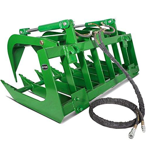"""Titan Attachments 60"""" John Deere Root Grapple Bucket Tractor Loader"""