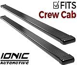 Ionic Billet Black Running Boards 2011-2018 Chevy Silverado GMC Sierra Crew Cab 2500/3500 Diesel Engine