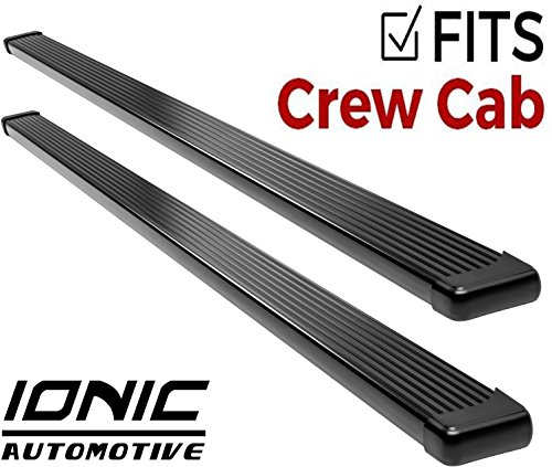 Ionic Billet Black Running Boards 2015-2018 Chevy Colorado GMC Canyon Crew ()