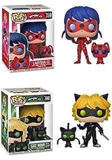FunkoPOP Miraculous: Miraculous Ladybug with Tikki + Cat Noir with Plagg - NEW