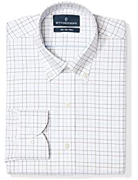 Men's Slim Fit Check Non-Iron Dress Shirt