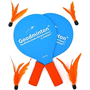 Goodminton   The World's Easiest Racket Game   An Indoor Outdoor Year-Round Fun Racquet Game for Boys, Girls, and People of All Ages