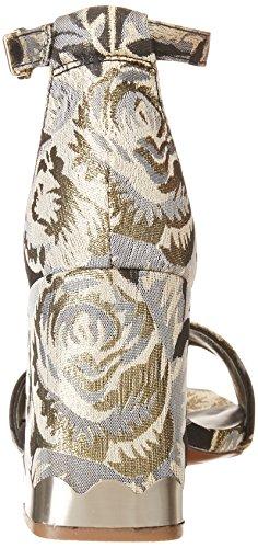 mit Sahar Damen Sandalette Blumenmuster kensie für Schwarzem nASIdWwTa
