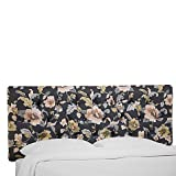 Deep Diamond Tufting Full Headboard in Lalita Storm