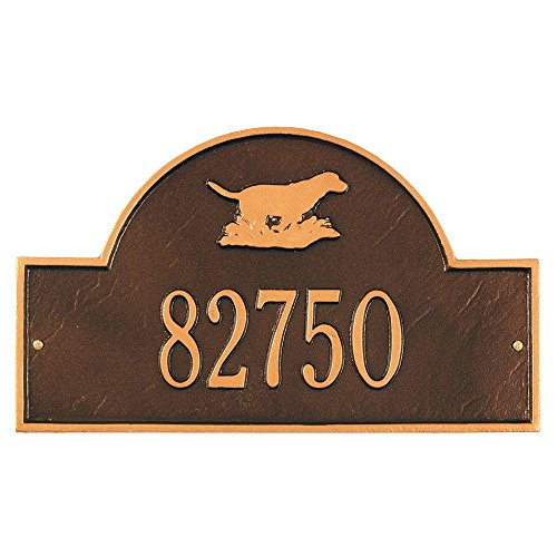 Retriever Arch One Line Wall Marker Finish: Antique Copper , Customize: Yes (Whitehall Marker Lawn Arch)