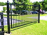 - Mighty Mule Driveway Gate - Single Gate, Santibel, 12ft.W x 5ft.H, Model# G1612-KIT