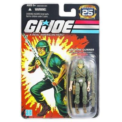 G.I. Joe 25th Anniversary Comic Series Cardback: Staff SGT. Rock n Roll (Machine Gunner) 3.75 Inch Action Figure -