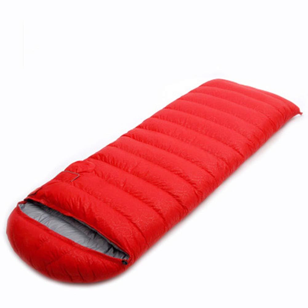 rouge 800g Qys Adulte Enveloppe De Plein Air Poids Léger 4 Saisons Imperméable Sac De Couchage pour Randonnée Camping Pêche