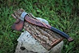 Hand Forged Viking Axe High Carbon Steel Hand made with leather case (axe-10)