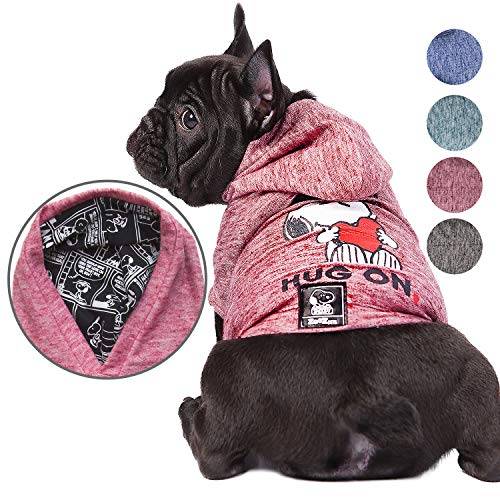 Snoopy Dog Clothes Hoodie |Lightweight Sweatshirt for Dogs & Cats in 5 Different Sizes and Styles |Supreme Hoodies for Dogs, Puppy to XL Pets Dog Sweatshirts for Small, Medium and Large -