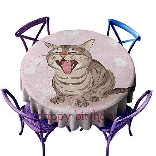 familytaste Birthday,Round Tablecloth D 50