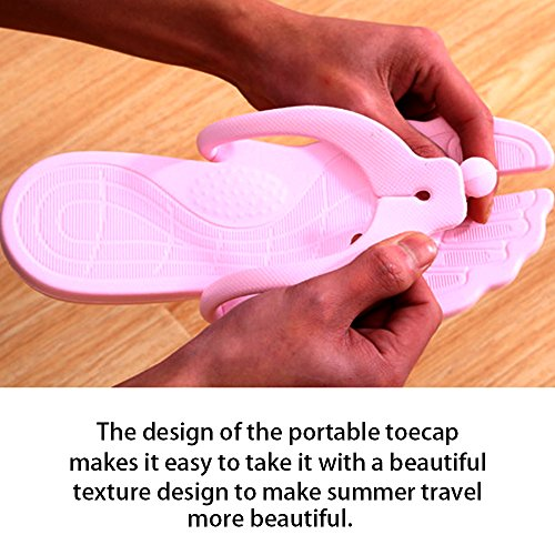 Playa Simple portátil Rosa verano Chanclas de Eastlion Tanga plegable Zapatillas Unisex 7wq5x06