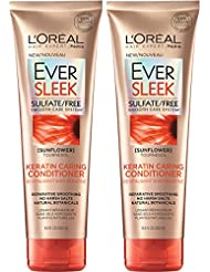 L'Oreal Paris Hair Care Ever Sleek Keratin Caring Conditioner...