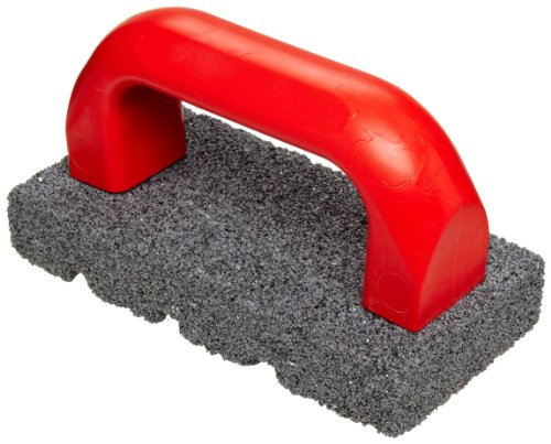 """Norton Crystolon Fluted Hand Rubbing Brick with Handle, 6"""" Length x 3"""" Width x 1"""" Height"""