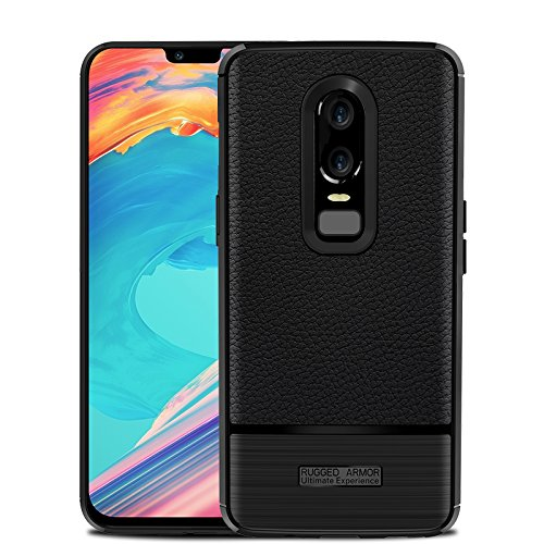 competitive price 6431a 08d97 OnePlus 6 Case,Carbon Fiber Luxury Flexible Shock-Absorption TPU Rugged  Armor Heavy Duty Protective Bumper Cover Case for Smartphone Oneplus 6  (Black)