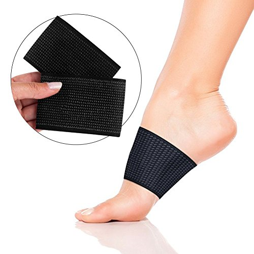Compression Arch Support Sleeves, Eda House 2 Plantar Fasciitis Braces, Copper Arch Support for Pain Relief, Foot Care, Flat Arches, Heel Spurs, Feet Pain (1 Pair)