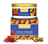 Cold Cream with Almond Oil, Aloe Vera & Saffron, 16 Oz (Pack of 3 X 150 Gm), Herbal lotion – All Natural – Paraban Free – Vaadi Herbals
