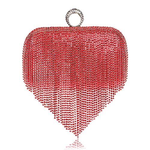 Bag Banquet Europe Evening de Tsutou Bag États Gland Robe Mme Red Color Red Embrayage la Unis Evening des et qzzEAwIF