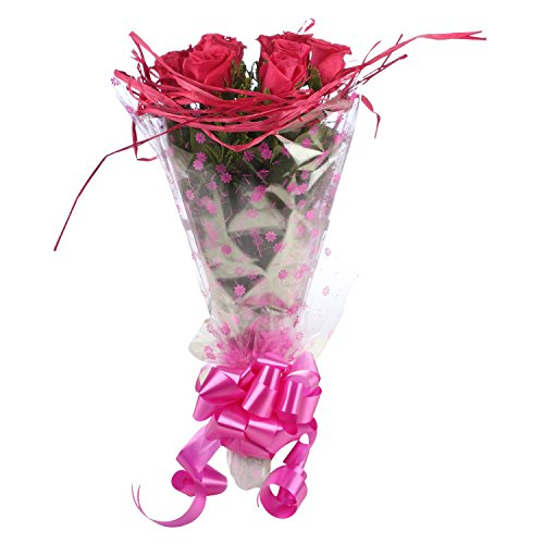 The Flower Studio Pink Roses Bouquet (Bunch of 10, FW178)