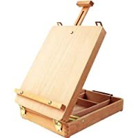 Adjustable Wood Table Sketchbox Easel, Premium Beechwood, Portable Wooden Artist Desktop Storage Case, Comfortable and…