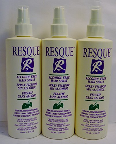 Resque Alcohol Free Hair Spray 12oz (3 Pack)