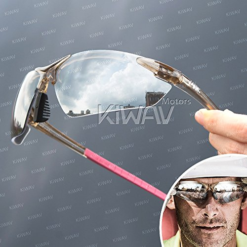 - VAWiK sports indoor/outdoor safety glasses eye wear VA830, pink frame, replaceable lens smoke/ silver mirror 1 PAIR